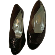 Pappagallo Leather and Snakeskin Heels