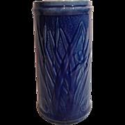 Old Sleepy Eye Cattail Vase in Cobalt