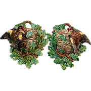 Matched Pair Lonitz Birds Nest Wall Pockets