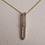 Delicate Diamond Filigree Pendant Necklace