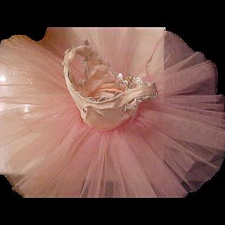 Madame Alexander PINK 1950's ballerina tutu rhinestones