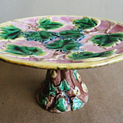 19th C. Etruscan Majolica Cake Stand