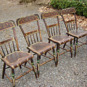 19th C. Paint Decorated Pennsylvania Chairs