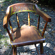 Hand Painted Country Style Windsor Highchair ca. 1830