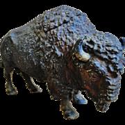 Antique Figural Buffalo Inkwell
