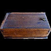 19th C. Walnut Dovetailed Spice Box
