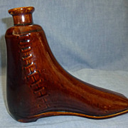 Pottery Boot Flask