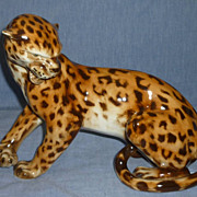 Royal Dux Leopard