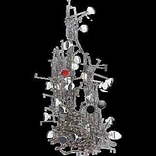 Vintage Modern Abstract Metal Sculpture Richard Bitterman Chicago