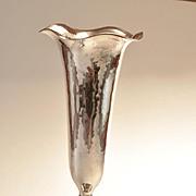Rare Clemens Friedell Arts & Crafts Sterling Silver  Trumpet Form Vase hallmarked