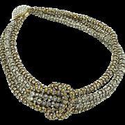 Fabulous Rhinestone Encrusted Choker Necklace and Earring Set