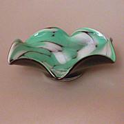 Mid Century German Hand Blown Art Glass Candy Dish