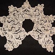 Old Battenberg Lace Dress Collar
