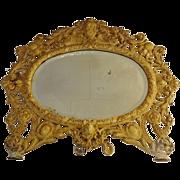 Bradley and Hubbard Cast Iron Framed Mirror