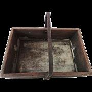 Antique Milk Paint Iron Handle Carrier