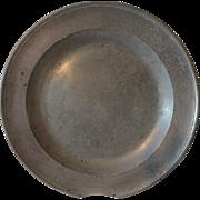 Antique Pewter Charger Platter