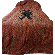 Antique Victorian Paisley Shawl - Extra Long