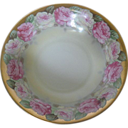 Moritz Zdekauer (MZ) Austria Pink and White Rose Motif Bowl (c1884-1909)