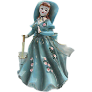 "1957 Geo. L. Lefton ""Southern Belle"" Porcelain Planter figurine #164 - signed"