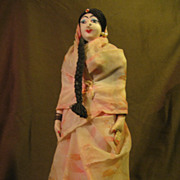 """Vintage Souvenir Cloth Doll From India 12"""""""
