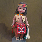 "Vintage Madame Alexander ""Hiawatha"" Doll and Box"
