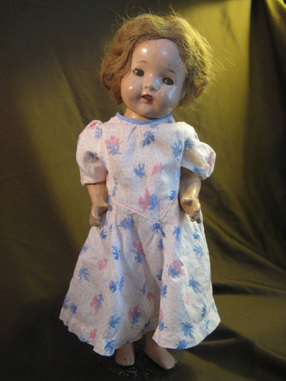 """1930's-40's Composition Doll -16.5"""" tall, Shirley Temple Type"""