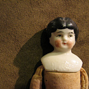 Antique German China Head with Cloth Body Doll