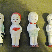 4 Vintage FROZEN CHARLOTTE Bisque Dolls Made In Japan 3 1/4""