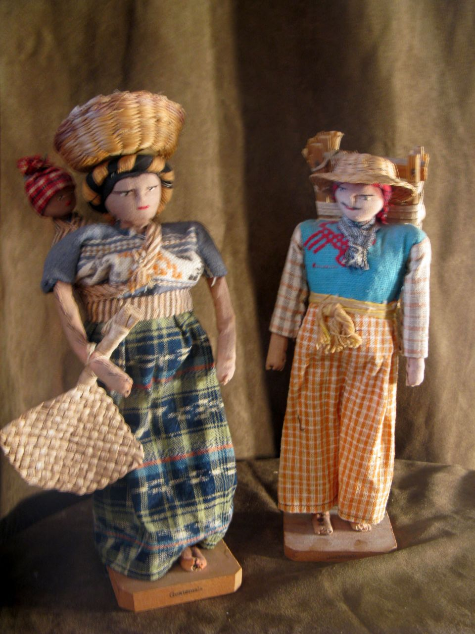 Vintage Guatemalan Family Dolls