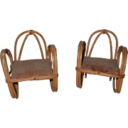 Pair of Vintage Bent Bamboo Chair