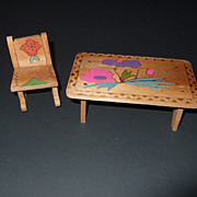 Wood Table and Rocker Japan 1950