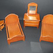 Vintage Miniature Dollhouse Bedroom Furniture
