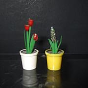 Vintage Plastic Flower Pot