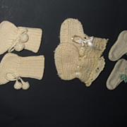 Vintage Baby  Wool Bootee