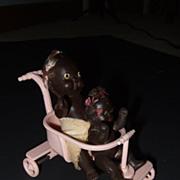 Vintage Miniature Baby Stroller