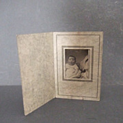 Tin Type in Old Photo Paper Frame