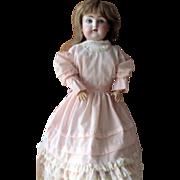 Beautiful Antique German Bisque Head Kid Body Kestner Doll TLC