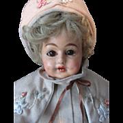 Antique German Papier Mache Schilling Character Doll