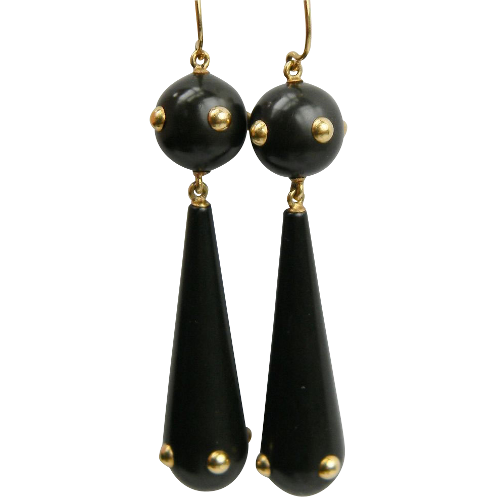 Bakelite 1930's drop stylish earrings