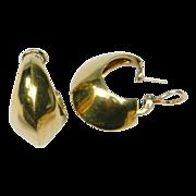 Stylish Vintage Tiffany & Co. 18ct Gold Hoop Earrings