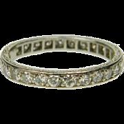 Art Deco Full Hoop Eternity Ring