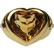 Citrine Heart Ring by Repossi