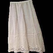 1950's Cotton Half-Slip with Lace Trim