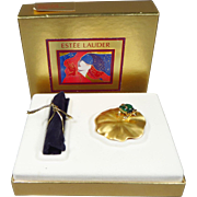 Unused Estee Lauder Knowing Solid Perfume in Fabulous Frog Compact with Original Box