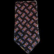 Robert Talbott 100% Silk Hand Sewn Gray & Purple Extra Long Tie & Free US Shipping