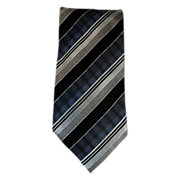 Mint Kolte Italian Hand Made Blue & Silver 100% Thick Woven Silk Men's Tie & Free US Shipping