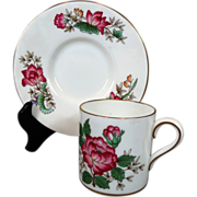 Early 1900s Wedgwood Charnwood Demitasse Cup & Saucer WD3984