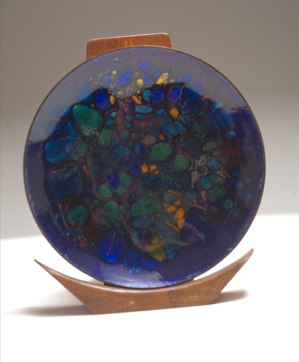 Vintage 1970's Win Ng enamel on copper bowl (c. 1971)
