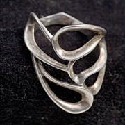 Vintage Modernist 1970's Free-Form Sterling Ring