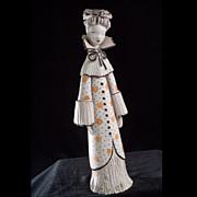 "Mid-Century Italian ""Vera Lllapola Bropa of Milano"" Porcelain Figurine"